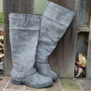 Madden Girl Gray Boots